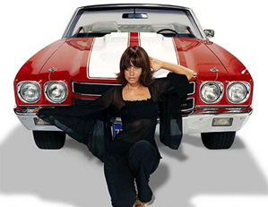 Calendar Girl with Chevelle